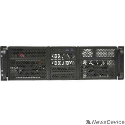 """Корпус Procase RE306-D2H10-C-48 Корпус 3U server case,2x5.25+10HDD,черный,без блока питания,глубина 480мм,MB CEB 12""""x10.5"""""""