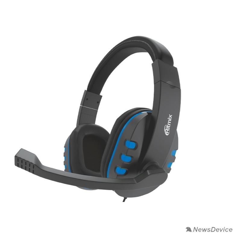 Наушники RITMIX RH-555M Gaming Blue