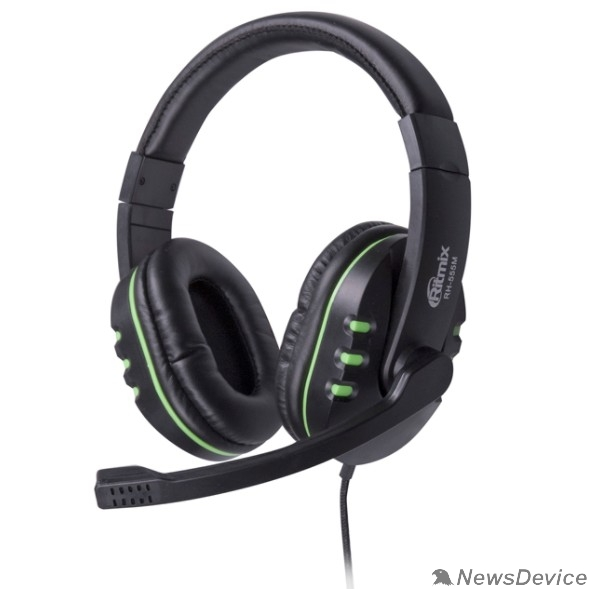 Наушники RITMIX RH-555M Gaming Green