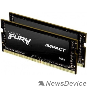 Модуль памяти Kingston DRAM 16GB 2666MHz DDR4 CL15 SODIMM (Kit of 2) FURY Impact KF426S15IBK2/16