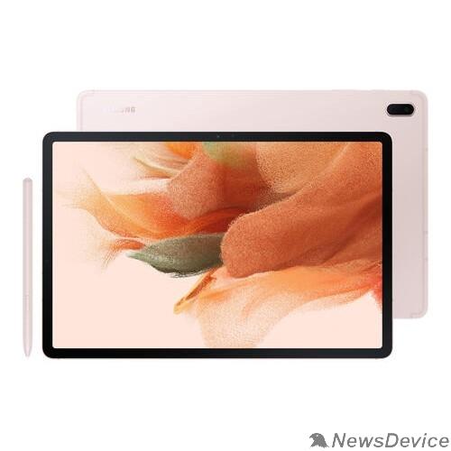 "Планшетный компьютер Samsung Galaxy Tab S7 FE SM-T735 Snapdragon 750G (2.2) 8C/RAM4Gb/ROM64Gb 12.4"" WQXGA 2560x1600/4G/Android/розовый/8Mpix/5Mpix/BT/Touch/microSD 1Tb/10090mAh SM-T735NLIASER"