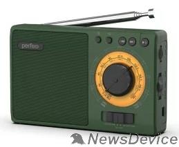 Радиоприемник Perfeo радиоприемник аналоговый,всеволновый ЗАРЯ/ MP3/ питание 18650/зеленый(i10GR) PF_C3278