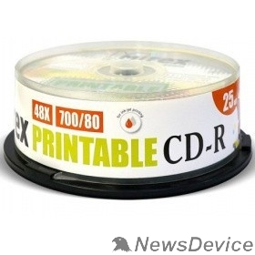 Диск Mirex Диск CD-R 700 Mb, 48х, Cake Box (25), Ink Printable (25/300) (200932)