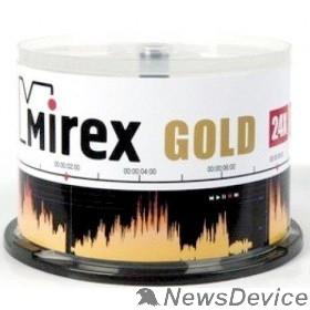 Диск Mirex Диск CD-R 700 Mb, 24х, Gold, Cake Box (50), (50/300)