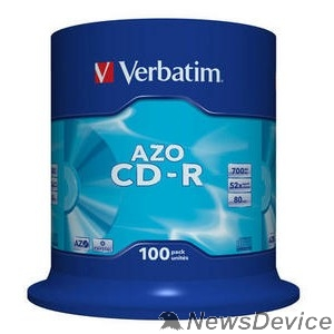 Диск Verbatim Диски CD-R 700Mb 52x Cake Box (100шт) (43430)