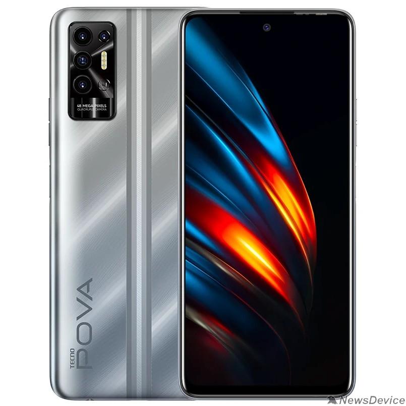 смартфон TECNO POVA 2 (4+64) Polar Silver