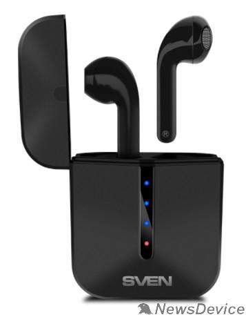 Наушники SVEN E-335B, черный (Bluetooth, TWS, зарядный кейс)