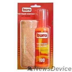 Чистящие средства Набор чистящий BURO BU-S/MF, микрофибра 25 х 25 мм + спрей для экранов и оптики 100 мл, 1 шт.817428