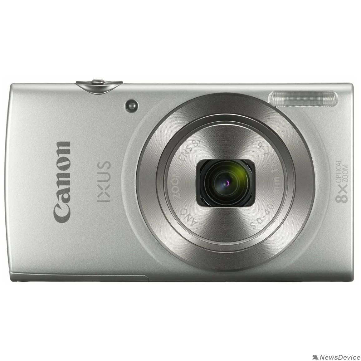 """Цифровая фотокамера Canon IXUS 185 серебристый 20Mpix Zoom8x 2.7"""" 720p SDXC CCD 1x2.3 IS el 1minF 0.8fr/s 25fr/s/NB-11LH"""