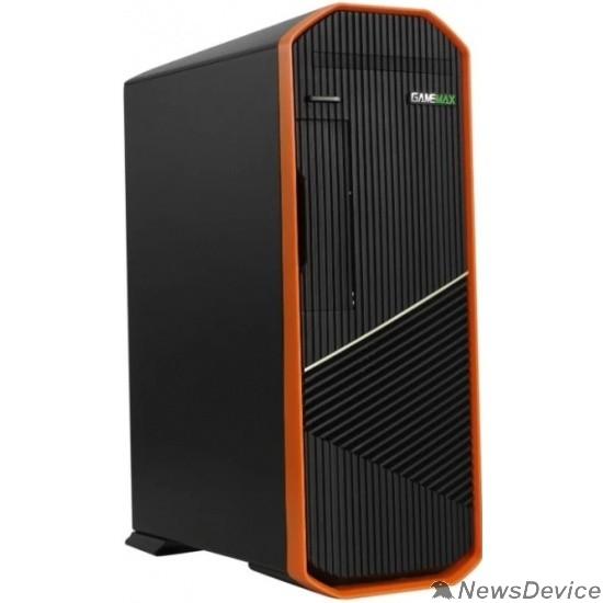 Корпуса GameMax Корпус S702-O (300 W) SFF case, Черно-оранж, USB type-C, 2*USB 3.0 + CR