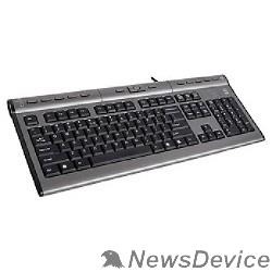 Клавиатура Клавиатура A-4Tech KLS-7MUU, USB, проводная с USB портом (черно-серый) 94395