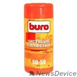 Чистящие средства Чистящие салфетки BURO BU-Tmix 65 шт влажных+ 65 шт. сухих 817437