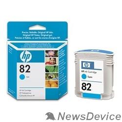 Расходные материалы HP C4911A Картридж №82, Cyan DesignJet 500/800, Cyan (69 ml)