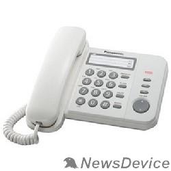 Телефон Panasonic KX-TS2352RUW (белый) индикатор вызова,порт для доп. телеф. оборуд.,4 уровня громкости звонка