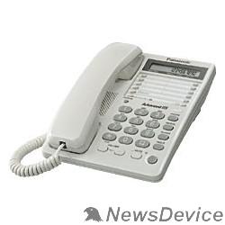 Телефон Panasonic KX-TS2362RUW (белый) 16зн ЖКД, однокноп.набор 20 ном.