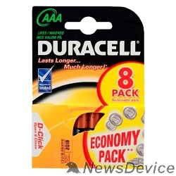 Батарейка DURACELL LR03-8BL BASIC AAA (MN2400) (8 шт. в уп-ке)