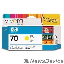Расходные материалы HP C9454A Картридж, Yellow, №70 DJ Z2100/Z3100 (130 ml)