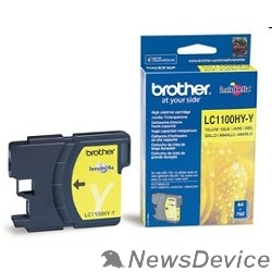 Расходные материалы Brother LC-1100HYY Картридж ,YellowDCP-6690CW/MFC-5890CN/6490CW/6890CDW, Yellow, (750 стр.)