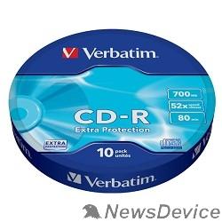 Диск Verbatim  Диски CD-R  10шт. 52x 700Mb, Shrink (43725)