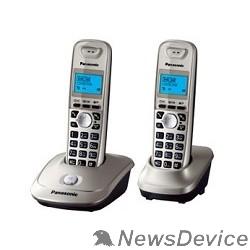 Телефон Panasonic KX-TG2512RUN (платиновый/золотой) Доп трубка в комплекте,АОН, Caller ID,спикерфон на трубке,полифония