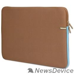 Сумка для ноутбука PORTCASE KNP-18BR Чехол для ноутбука неопрен, коричневый, 17-18,4''