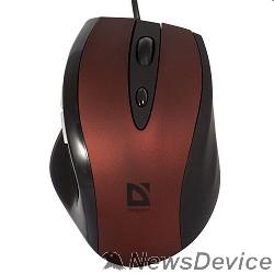 Мышь Defender Opera 880 Red+Black USB 52832 5кн, 800/1200/1600/2000 dpi
