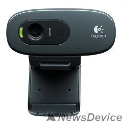 Цифровая камера 960-001063 Logitech HD Webcam C270, USB 2.0, 1280*720, 3Mpix foto, Mic, Black