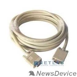 Кабель Gembird/Cablexpert CC-PPVGA-5M, Кабель VGA Premium ,  15M/15M,5.0м,  серый, тройной экран, феррит.кольца
