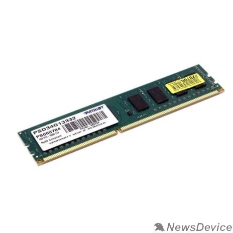 Модуль памяти Patriot DDR3 DIMM 4GB (PC3-10600) 1333MHz PSD34G13332