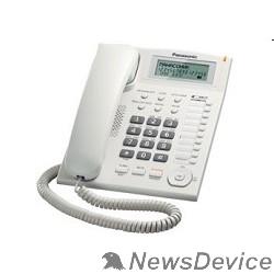 Телефон Panasonic KX-TS2388RUW (белый) индикатор вызова,повторный набор последнего номера,4 уровня громкости звонка