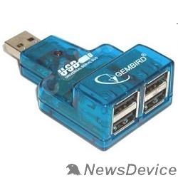 Контроллер GEMBIRD  HUB USB2.0 Mini 4-port UHB-CN224