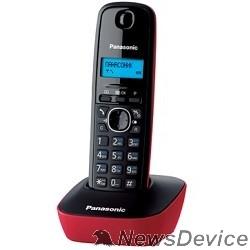 Телефон Panasonic KX-TG1611RUR (красный) АОН, Caller ID,12 мелодий звонка,подсветка дисплея,поиск трубки