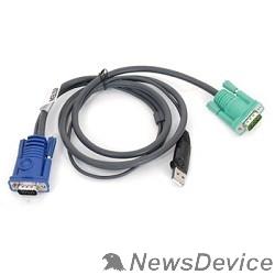 Переключатель ATEN 2L-5202U Кабель KVM  USB(тип А Male)+HDB15(Male) <->  SPHD15(Male) 1,8м., черный.