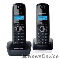 Телефон Panasonic KX-TG1612RU1 Доп трубка в комплекте,АОН, Caller ID,12 мелодий звонка,поиск трубки