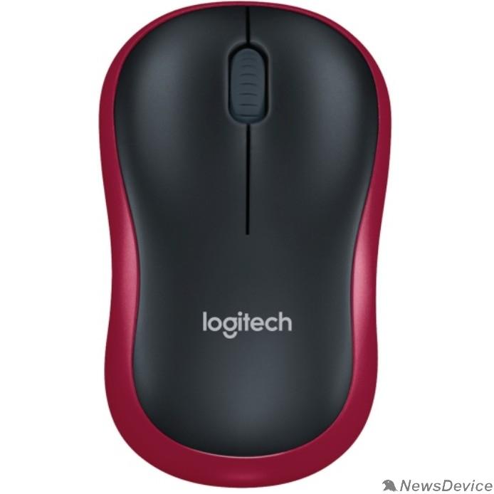 Мышь 910-002240 Logitech Wireless Mouse M185 dark red USB