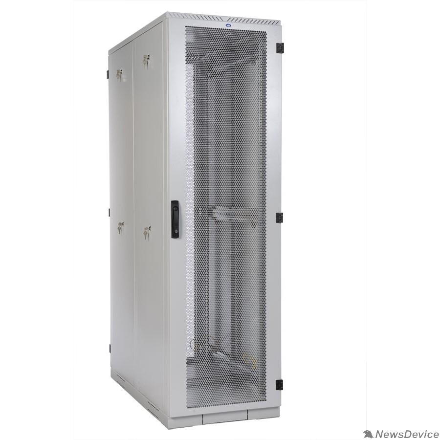 Монтажное оборудование ЦМО Шкаф серверный напольный 42U (600x1000) дверь перфорированная, задние двойные перфорированные (ШТК-С-42.6.10-48АА) (4 коробки)