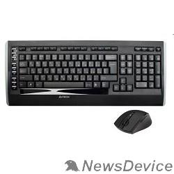 Клавиатура A-4Tech Клавиатура + мышь 9300F, беспроводная, черный, USB 618555