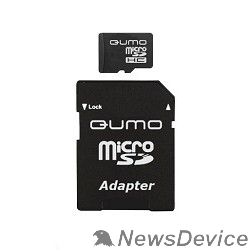 Карта памяти  Micro SecureDigital 8Gb QUMO QM8GMICSDHC10 MicroSDHC Class 10, SD adapter