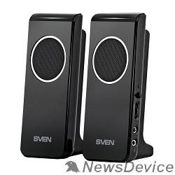 Колонки SVEN 314, черный 2.0, 2 х 2 W RMS, USB