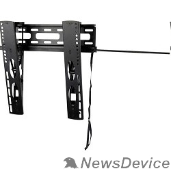 """Крепеж Wize WUT47 Наклонное настенное крепление для  средних LED телевизоров с диагональю 26""""- 47"""", углом наклона 14° и нагрузкой 20 кг, расстояние 3 см от стены, черн. VESA 400X400"""