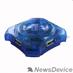 Контроллер CBR  CH-127 USB-концентратор , 4 порта, USB 2.0, голуб.