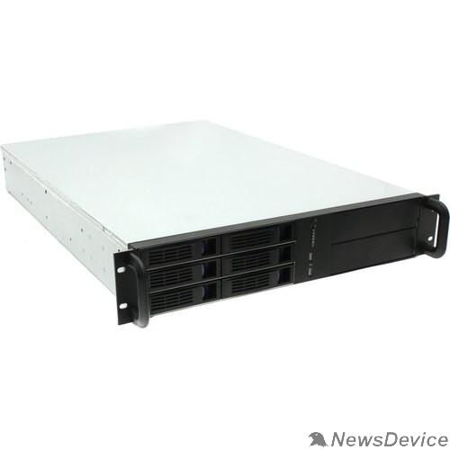 "Корпус Procase ES206-SATA3-B-0 2U 6 SATA3/SAS hotswap HDD, глубина 650мм, MB 12""x13"", без Б/П,черный"