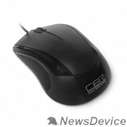 Мышь CBR CM-100 Black USB, Мышь 1200dpi, офисн., провод 1.3 метра