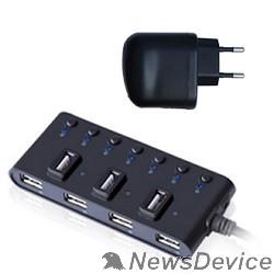 Контроллер HUB GR-487UAB Ginzzu USB 2.0 7 port + adapter