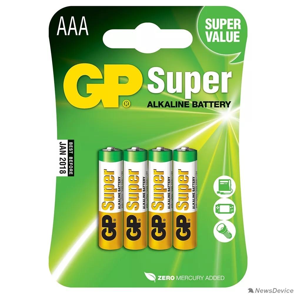 Батарейка GP 24A(CR4)-UE4 AAA (SUPER)  (4 шт. в уп-ке) - фото 515537