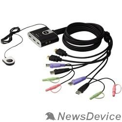 Переключатель ATEN CS692(-AT/B) переключатель PETITE 2 PORT USB2.0 HDMI KVM SWITCH.