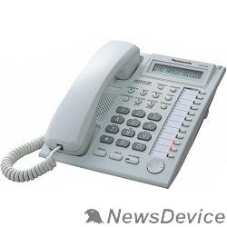 Телефон Panasonic KX-AT7730RU (PP) (белый) Системный телефон с дисплеем и спикерфоном (12 кнопок)