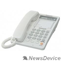 Телефон Panasonic KX-TS2365RUW (белый) 16-зн ЖКД, однокноп.набор 20 ном., автодозвон, спикерфон