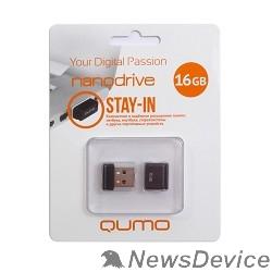 Носитель информации USB 2.0 QUMO 16GB NANO QM16GUD-NANO-B Black