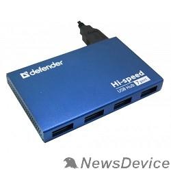 Контроллер DEFENDER USB (QUADRO) SEPTIMA SLIM USB 2.0, 7 порта, (с адап. 2А)